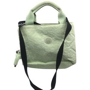 Kipling Pastel Green Nylon Medium Crossbody Bag